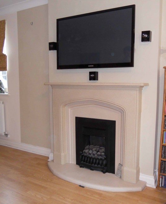 London Install Of Tv Wall Mounted On Chimney Breast With 5