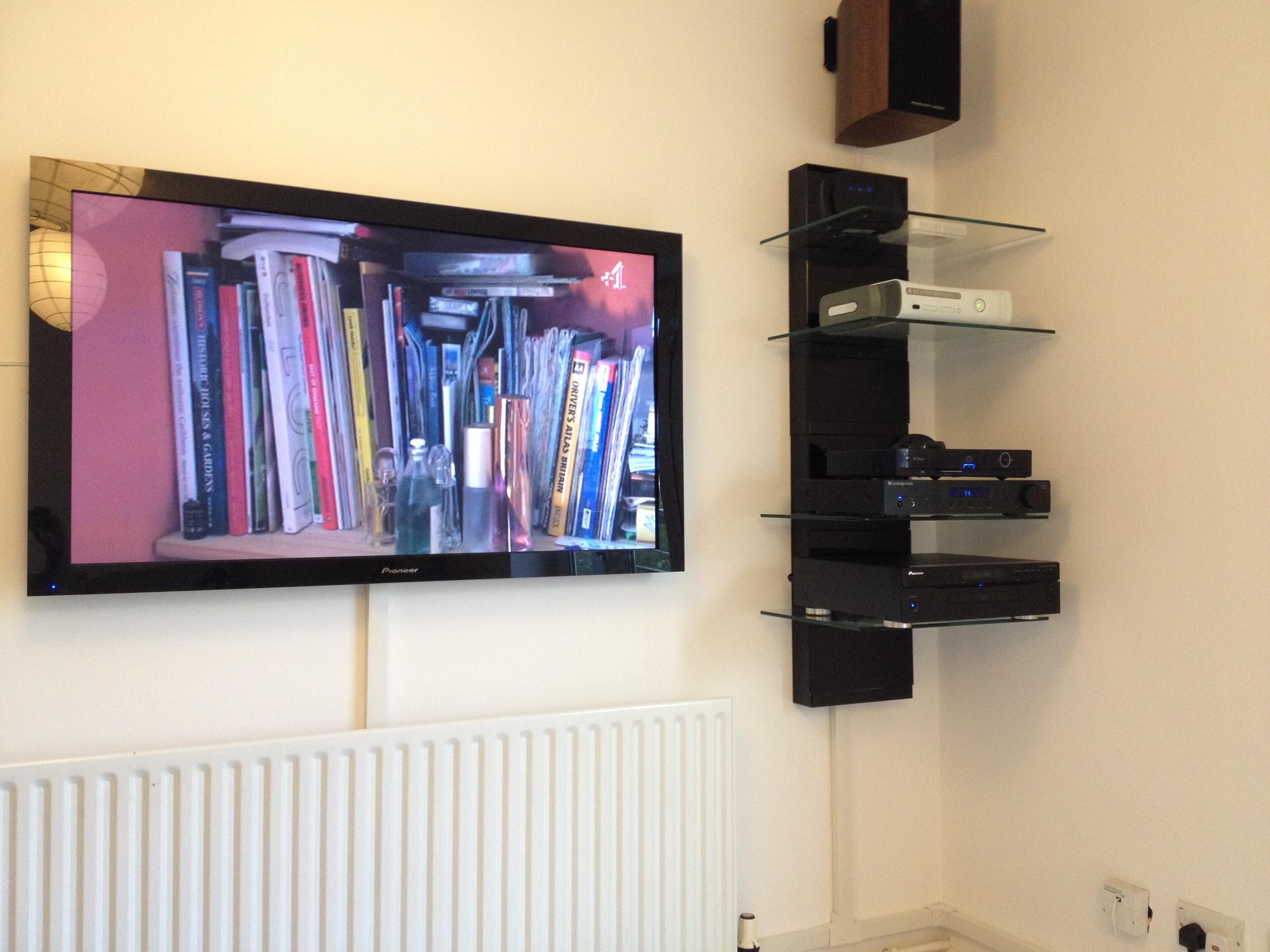 Pioneer plasma TV installation in London